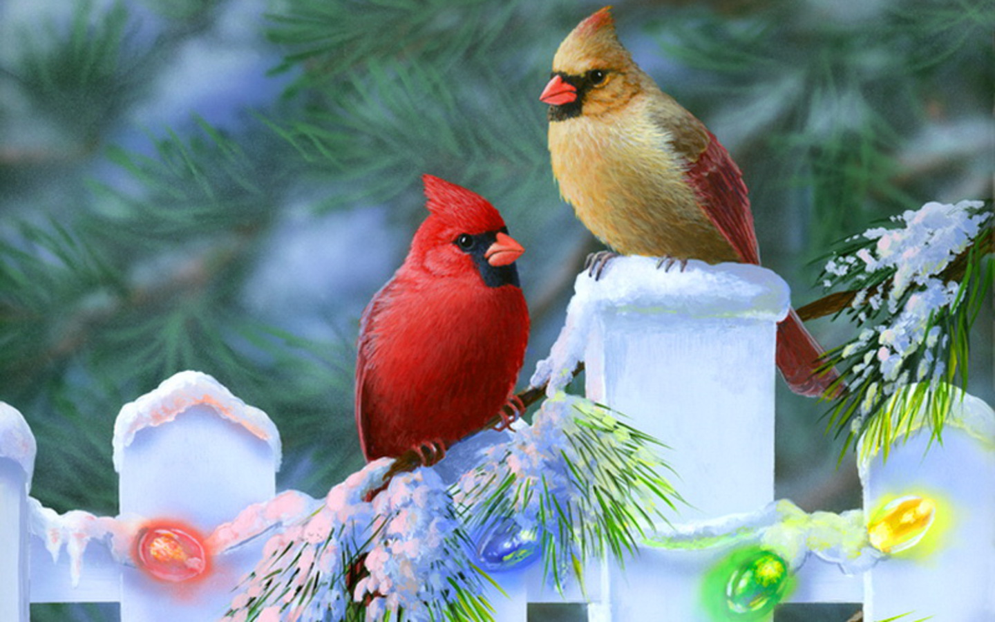 christmas-cardinals wallpaper photo and wallpaper. all christmas